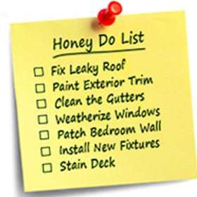To do lists for handyman