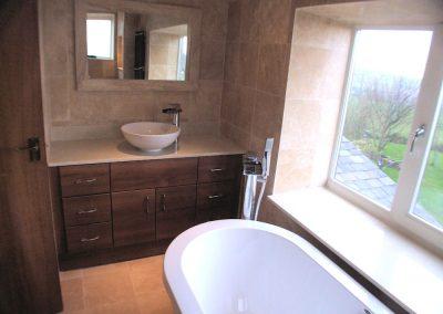 A Stone Tiled Bathroom