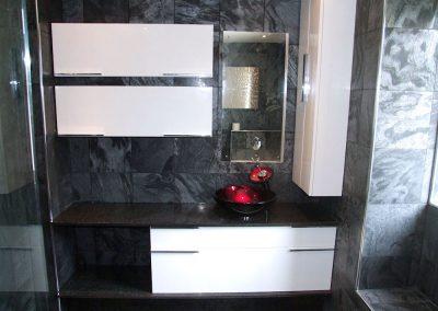 A Slate Tiled Bathroom