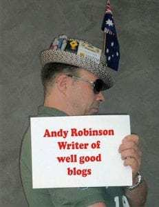 Andy Robinson Blogger